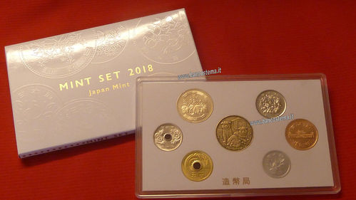 Japan coins mint set 2018 unc