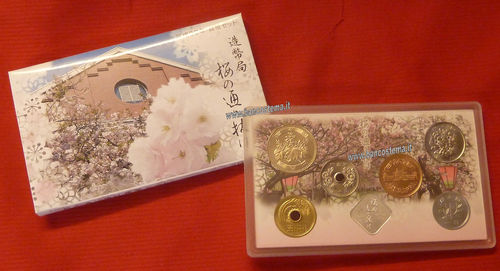 "Japan coins mint set 2018 serie ""Cherry trees"" unc"