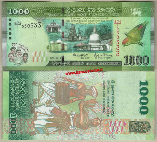 Sri Lanka  1.000 Rupees 04.02.2018 commemorative unc