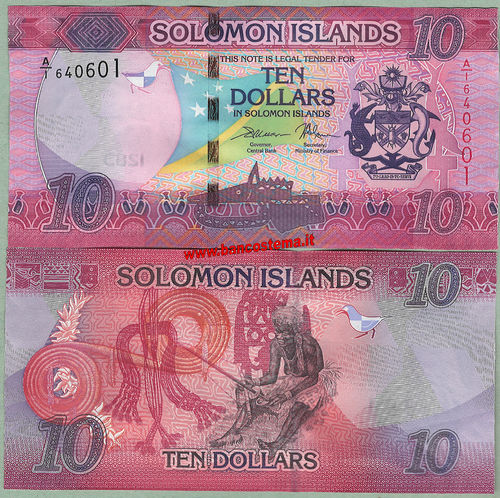 Solomon Islands 10 Dollars nd 2017 unc
