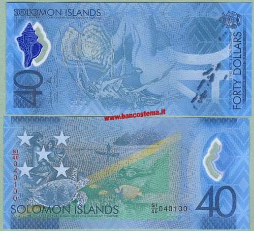Solomon Islands 40 Dollars commemorativa nd 2018 polymer unc