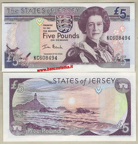 Jersey P27b 5 Pounds nd 2000 unc