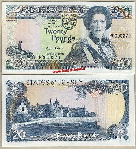 Jersey P29a 20 Pounds nd 2000 low nr. unc