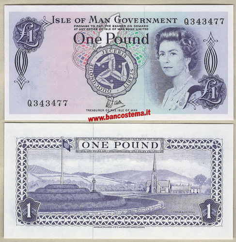 Isle of Man P34a 1 Pound nd 1979 unc