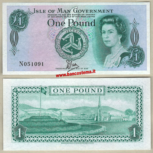 Isle of Man P38 1 Pound nd 1983 unc