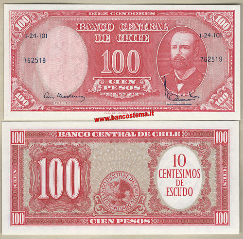 Chile P127a 100 Pesos nd unc