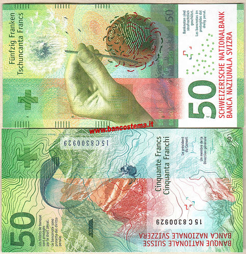 Switzerland P77a 50 Francs nd (2017) unc Hybrid