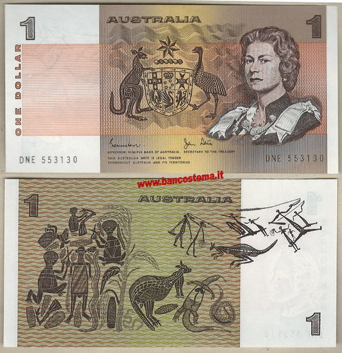 Australia P42d 1 Dollar nd 1974-83 gEF