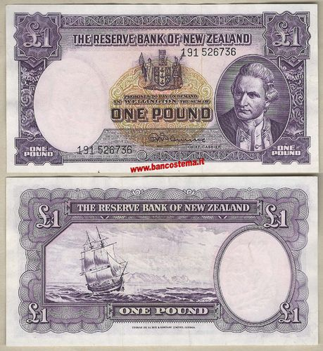 New Zealand P160d 5 Pounds nd 1940-67 gvf