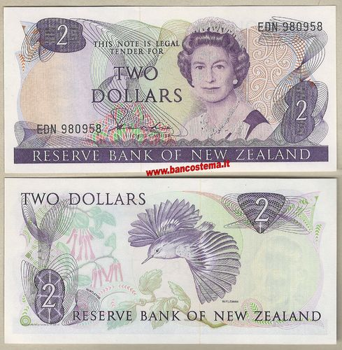 New Zealand P170a 2 Dollars nd 1981-92 unc