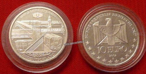 4addc03d07 Germania 10 euro commemorativo 2002