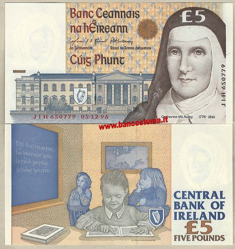 Ireland P75b 5 Pounds 05.12.1996 unc
