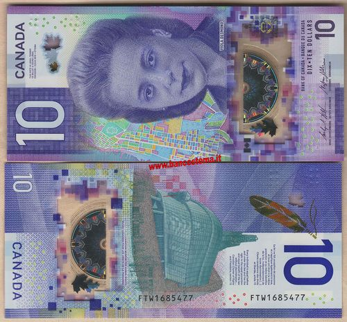 Canada 10 Dollars commemorative 2018 unc polymer