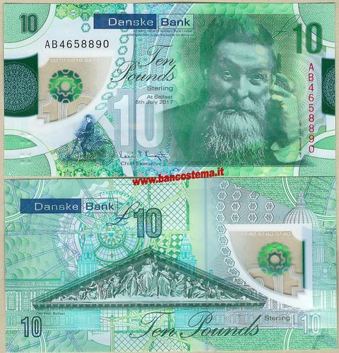 Northern Ireland 10 Pounds Danske Bank 06.07.2017 polymer unc