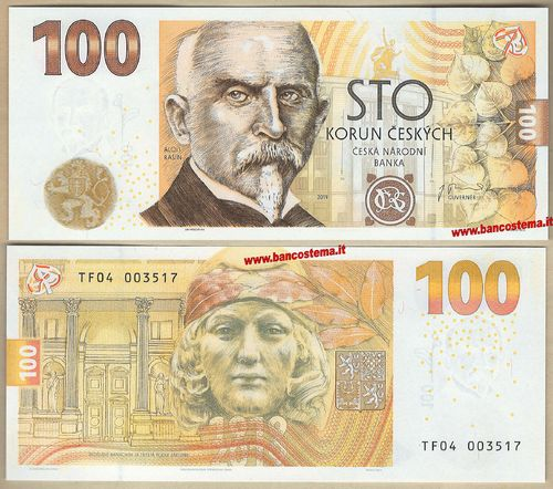 Czech Republic 100 Korun commemorativa 2019 in folder unc