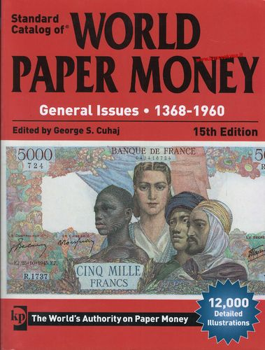 Catalogo World Paper Money General Issues 1368-1960 15 th edition