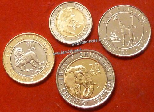kenya set 1-5-10-20 Shillings 2018 unc