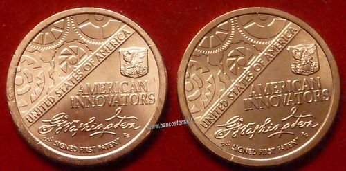 Usa 1 Dollar American innovation D+P 2 pz 2018 unc