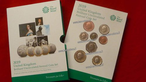 United Kingdom annual coin set 2019 Bu