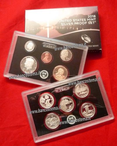 Usa States mint silver Proof 2018 set