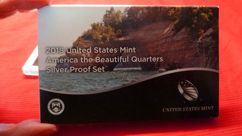 Usa States mint America the Beautiful Quarters silver Proof 2018 set
