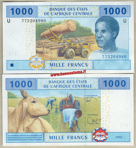 Cameoon 1.000 Francs 2002 (2018) C.A.S. let U unc