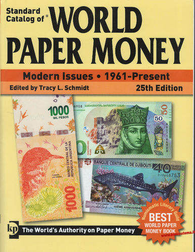 Catalogo World Paper Money Modern Issues 1961-present 25th edition