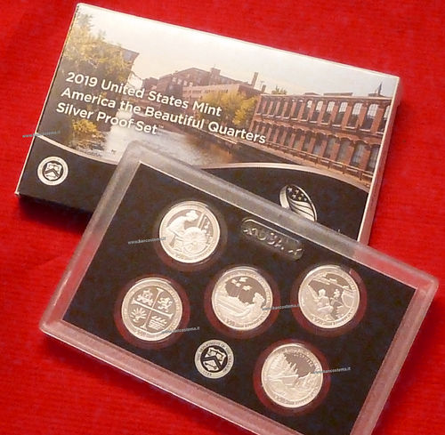 Usa States mint America the Beautiful Quarters silver Proof 2019 set