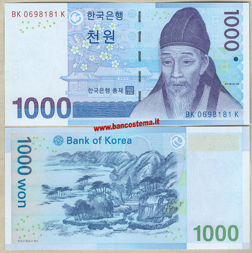 South Korea P54a 1.000 Won nd 2007 unc