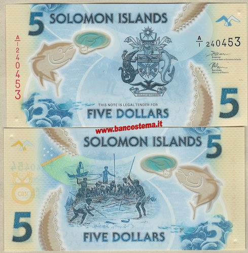 Solomon Islands 5 Dollars nd 2019 polymer unc