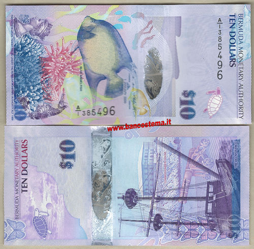 Bermuda 10 Dollars A/1 nd 2019 unc