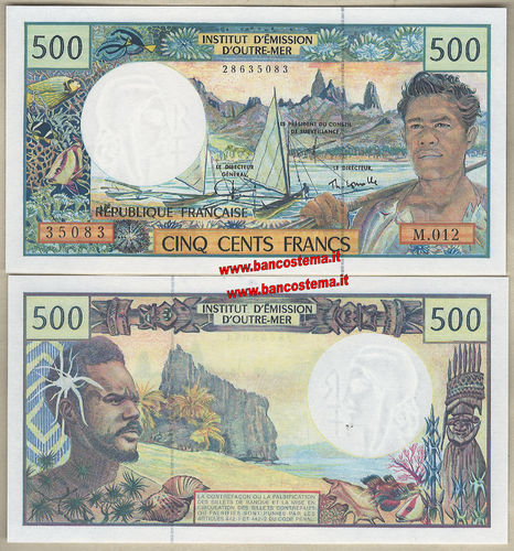 French Pacific Territories P1e 500 Francs nd 1990-2012 unc