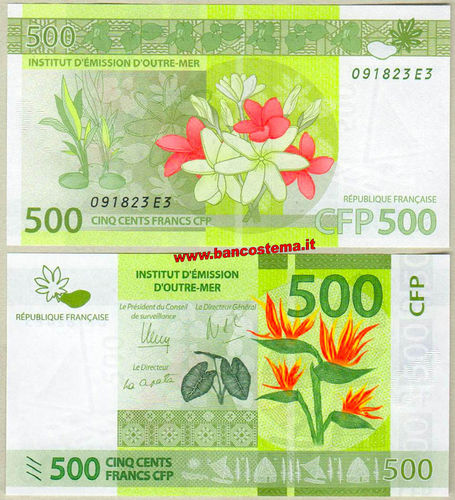 French Pacific Territories P5 500 Francs nd 2014 unc
