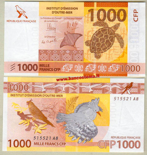 French Pacific Territories P6 1.000 Francs nd 2014 unc