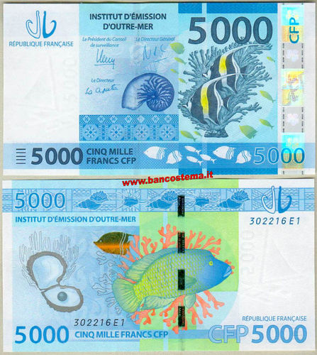 French Pacific Territories P7 5.000 Francs nd 2014 unc