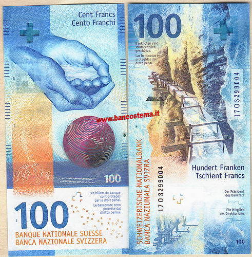 Switzerland 100 Francs nd (2019) unc Hybrid