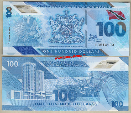 Trinidad and Tobago 100 Dollars polymer nd 2019 unc