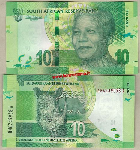 South Africa P133 10 Rand nd 2012 unc