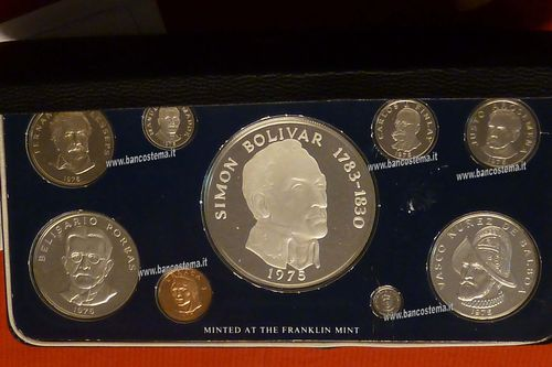 Panama proof silver set 1975 Franklin mint