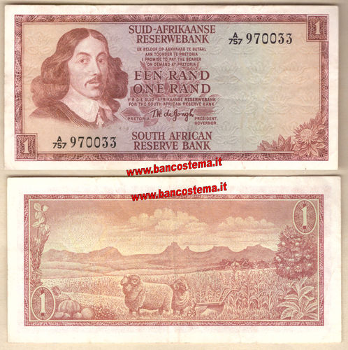 South Africa P110b 1 Rand nd 1966-1972 vf