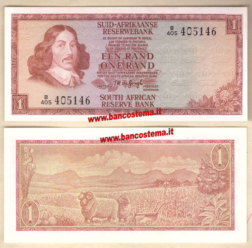 South Africa P116b 1 Rand nd 1973-1975 unc