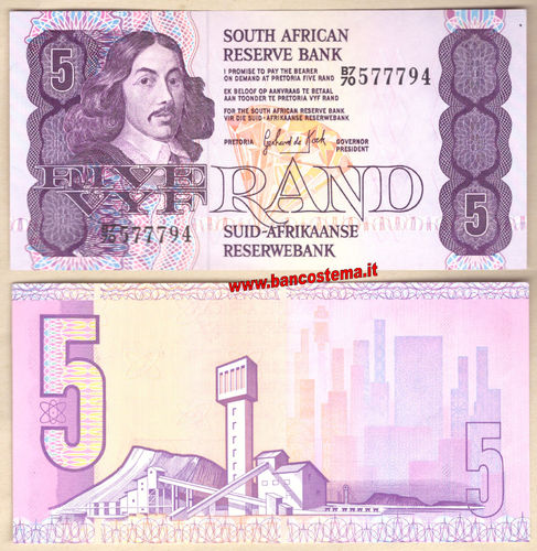 South Africa P119c 5 Rand nd 1978-1994 aunc