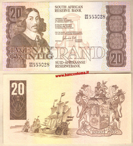 South Africa P121c 20 Rand nd 1978-1993 ef