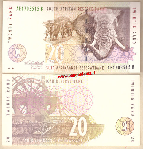 South Africa P124a 20 Rand nd 1993-1999 unc