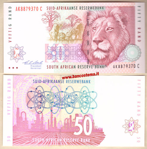 South Africa P125a 50 Rand nd 1993-1999 unc