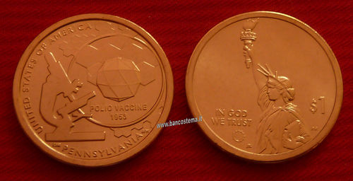 Usa 1 Dollar American innovation  Pennsylvania 1 pz 2019 unc