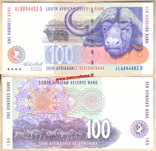 South Africa P126a 100 Rand nd 1994-1999 ef