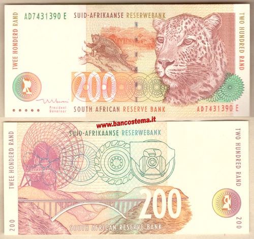 South Africa P127b 200 Rand nd 1994-1999 aunc