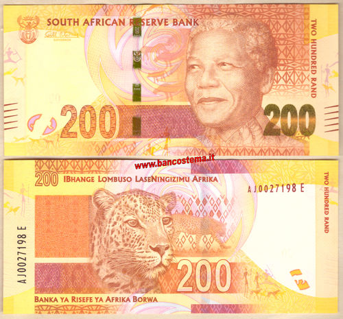 South Africa P137 200 Rand  nd 2012 unc