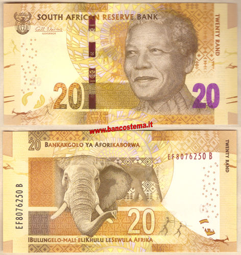 South Africa P139a 20 Rand  nd 2013 unc